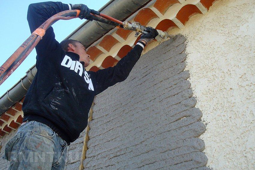 Крепление сетки для штукатурки фасада
